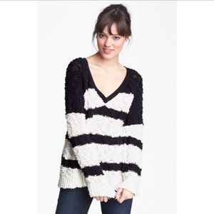 Free People • Oversized Stripe Chunky Sweater